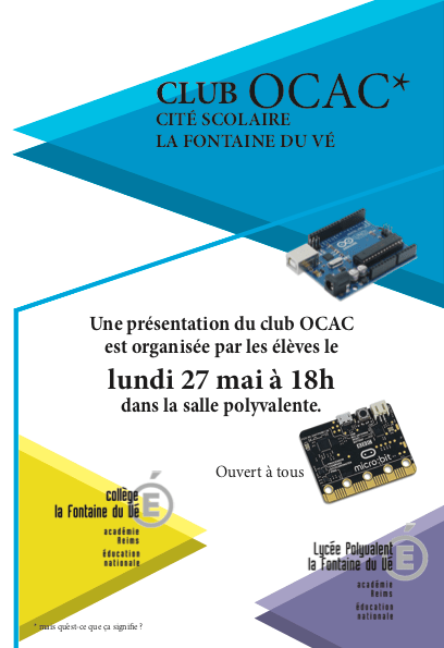 plaquette Spectacle OCAC 1
